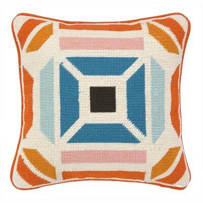 Novato Needlepoint Throw Pillow Color: Blue / Orange