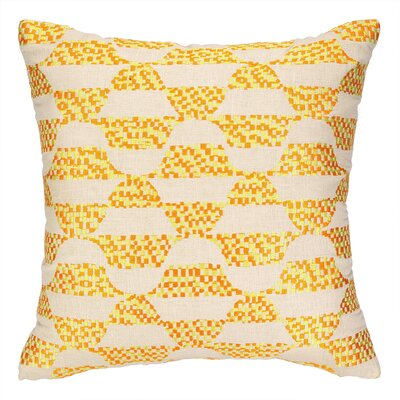 Ventura Embroidered Throw Pillow Color: Yellow
