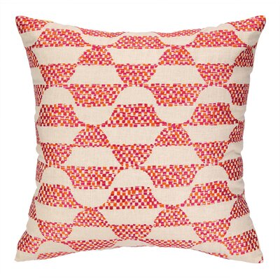 Ventura Embroidered Throw Pillow Color: Pink