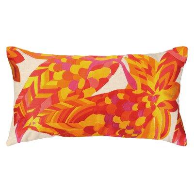 La Palma Embroidered Lumbar Pillow Color: Pink