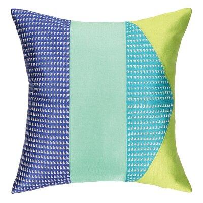 Tiburon Embroidered Throw Pillow Color: Blue
