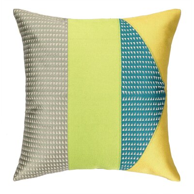 Tiburon Embroidered Throw Pillow Color: Driftwood