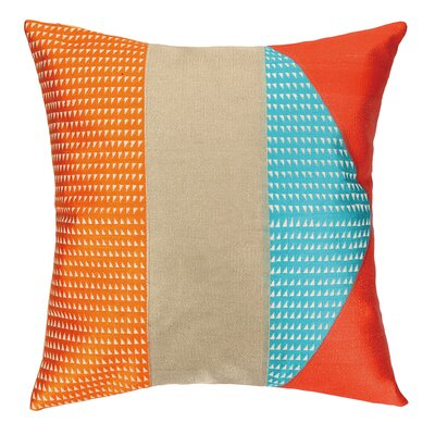 Tiburon Embroidered Throw Pillow Color: Marmalade