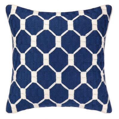 Montebello Bargello Throw Pillow Color: Navy
