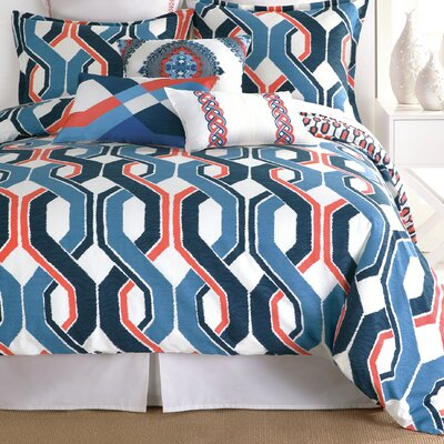 Coastline Ikat Duvet Set Size: Twin