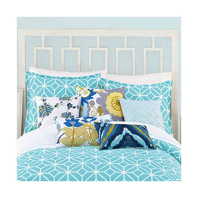 Palm Springs Block Euro Sham Color: Turquoise
