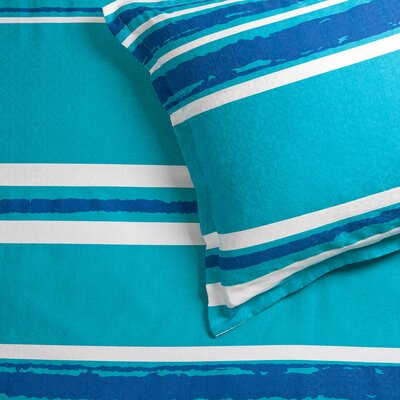 Striped 3 Piece Comforter Set Size: King