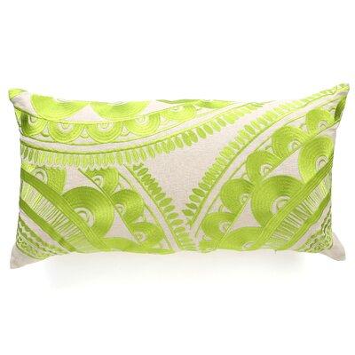 Tribal Wool Lumbar Pillow Color: Green