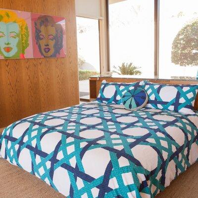 Pacifica Pier Lattice 3 Piece Comforter Set Size: Queen