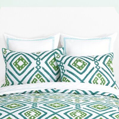 Ventura Ikat Sham Color: Blue/Green