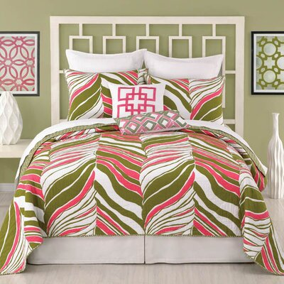 Tiger Leaf Coverlet Size: Full/Queen