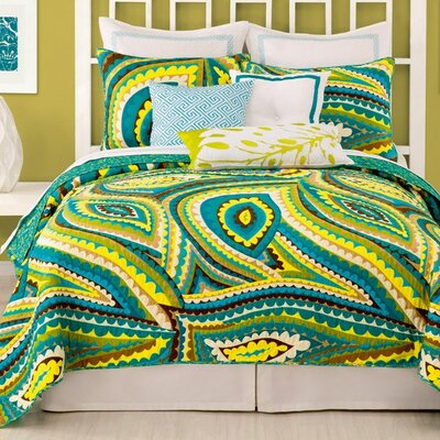 Vivacious Coverlet Size: King