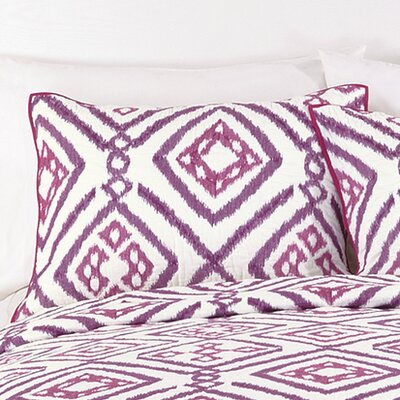 Ventura Ikat Sham Color: Purple