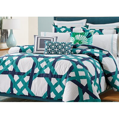 Pacifica Pier Lattice Duvet Set Size: Twin