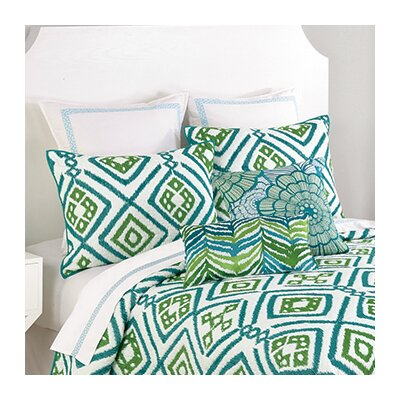 Ventura Ikat Quilt Size: Twin, Color: Blue/Green