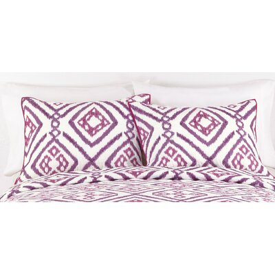 Ventura Ikat Quilt Size: King, Color: Pink