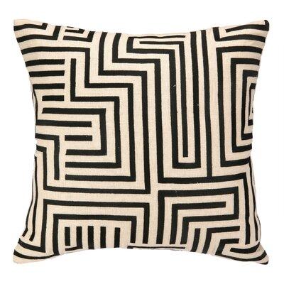 Mira Mesa Embroidered Throw Pillow Color: Black