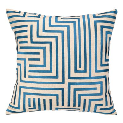 Mira Mesa Embroidered Throw Pillow Color: Blue