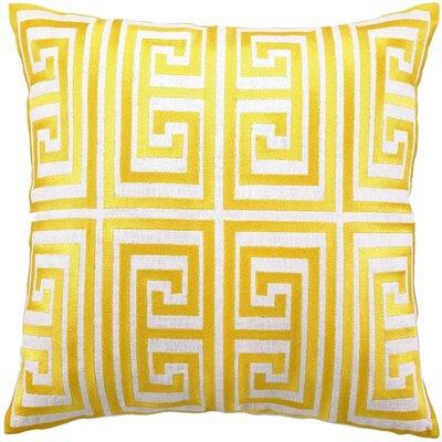 Greek Key Linen Pillow Color: Acid Yellow