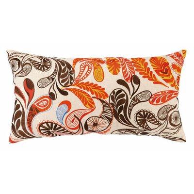 Paisley Linen Lumbar Pillow Color: Orange