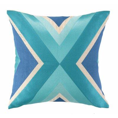 Building Linen Throw Pillow Color: Blue