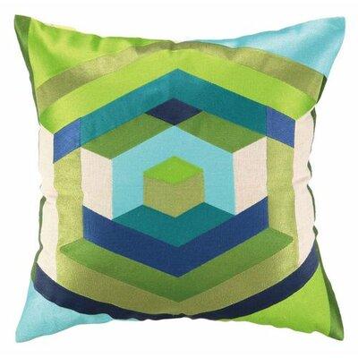 Hexagon Linen Throw Pillow Color: Blue