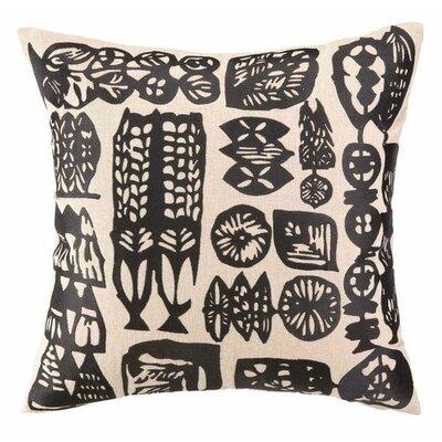 Manteca Linen Throw Pillow Color: Black