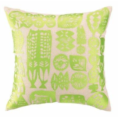 Manteca Linen Throw Pillow Color: Lime