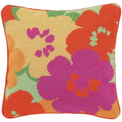 Floral Linen Throw Pillow Color: Pink