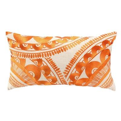 Tribal Wool Lumbar Pillow Color: Orange