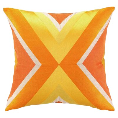 Building Linen Throw Pillow Color: Orange