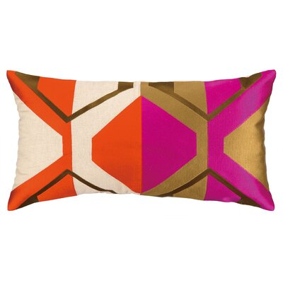 La Playa Embroidered Pillow Color: Orange/Pink