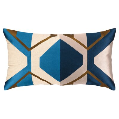 La Playa Embroidered Pillow Color: Blue