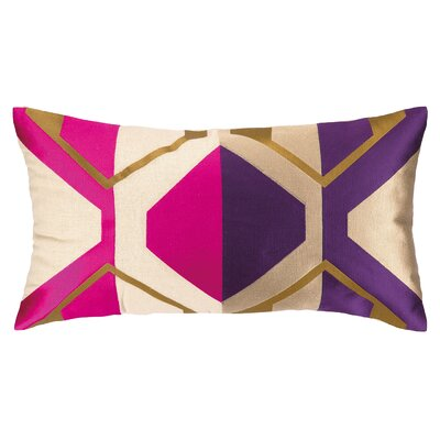 La Playa Embroidered Pillow Color: Purple/Pink