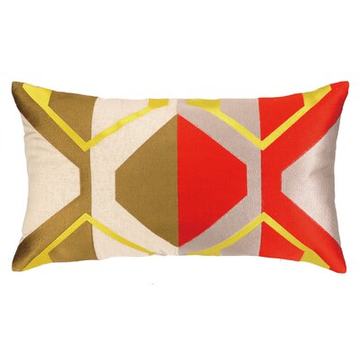 La Playa Embroidered Pillow Color: Red/Gold