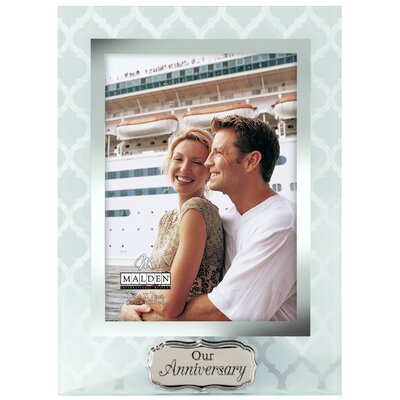 """5"""" x 7"""" Our Anniversary Glass Picture Frame 3131-57"""
