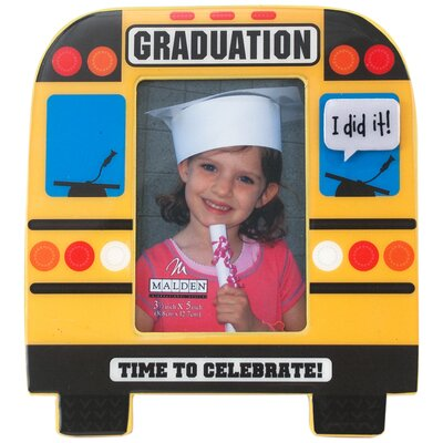 School Bus Graduation Picture Frame