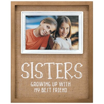 Sisters Burlap Horizontally Picture Frame 3233-46
