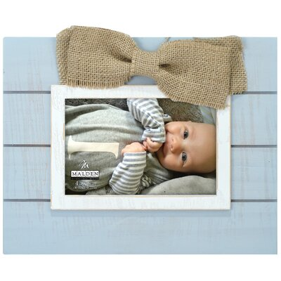 Burlap Bow Picture Frame Color: Blue 4690-46