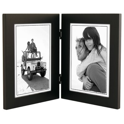 Double Linear Picture Frame Color: Black 673-57DV