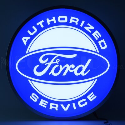 Ford Authorized Service Backlit LED Lighted Sign Themed