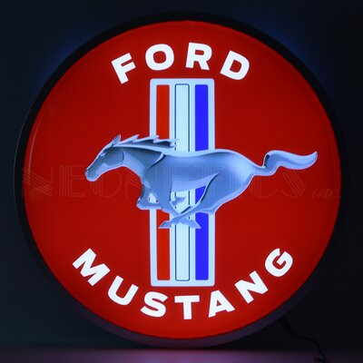Ford Mustang Backlit LED Lighted Sign Themed