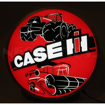 Case IH International Harvester Tractors Backlit LED Lighted Sign Themed