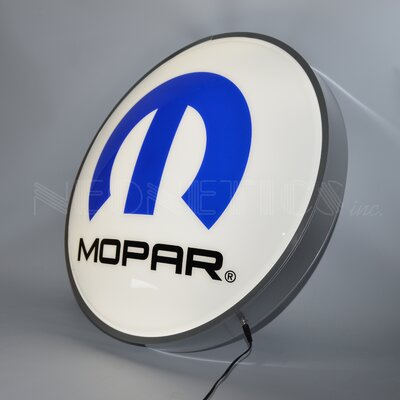Mopar Omega M Backlit LED Lighted Sign