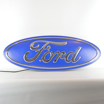 Ford Oval Shaped Backlit LED Lighted Sign