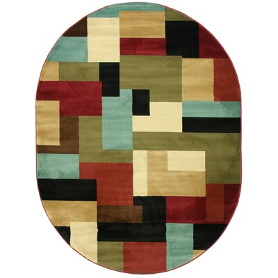 Barclay River Modern Area Rug Rug Size: Oval 7'10