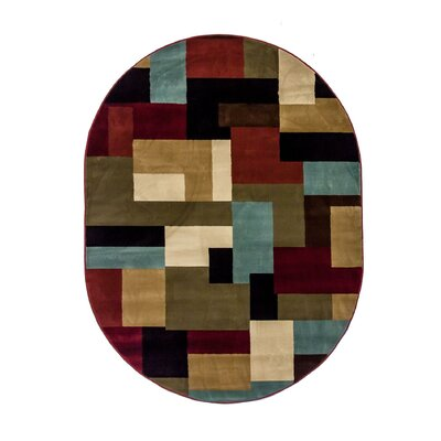 Barclay River Modern Area Rug Rug Size: Oval 5'3