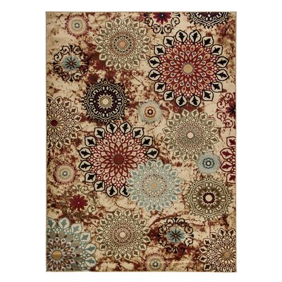 Barclay Delilahs Place Floral Suzani Area Rug Rug Size: 5'3