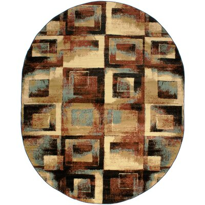 Barclay Union Squares Modern Area Rug Rug Size: Oval 53 x 610