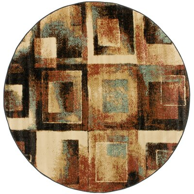 Barclay Union Squares Modern Area Rug Rug Size: Round 53